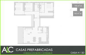 Casa H 3D casas prefabricadas hormigón ALC