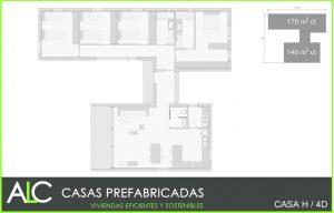 Casa H 4D casas prefabricadas hormigón ALC